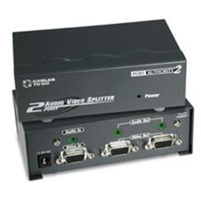 Cables To Go 39967 2-Port UXGA Monitor Spitter Extender with Audio