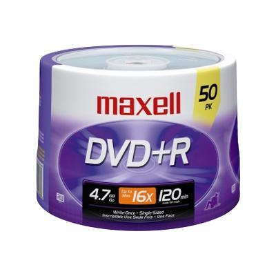 Maxell 639013 50 x DVD+R - 4.7 GB 16x - spindle