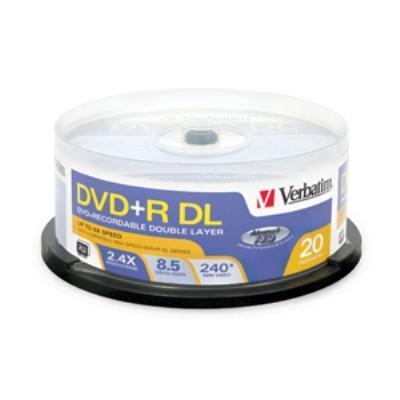 Verbatim 95310 DVD+R DL 8.5 GB 2.4x - spindle - storage media - 20 pack