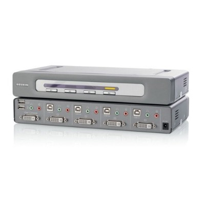 Linksys F1DN104U OmniView Secure 4-Port KVM Switch  EAL4+  NIAP  USB IN & OUT