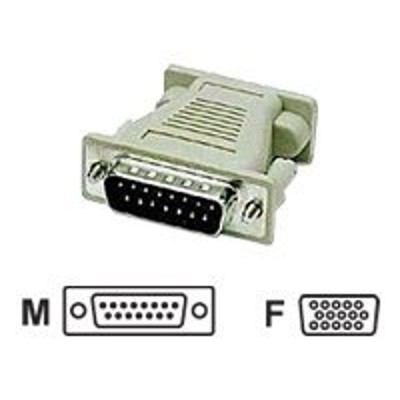 C2G 02902 Mac DB15 Male to VGA HD15 Female Adapter - VGA adapter - DB-15 (M) to HD-15 (VGA) (F) - molded - beige