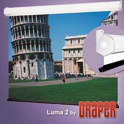 Draper  INC. 206016 Luma 2 - Projection screen - ceiling mountable  wall mountable - 150 in (150 in) - 4:3 - Matte White