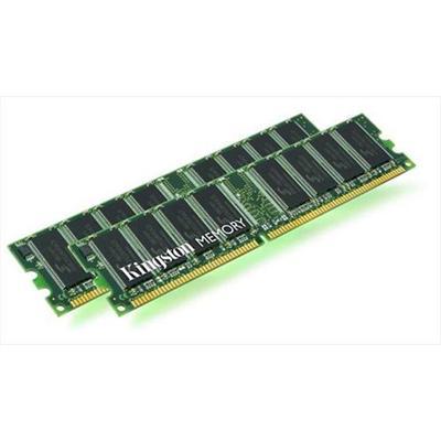 Kingston - Memory - 4 GB : 2 x 2 GB - DIMM 184-pin - DDR - 400 MHz / PC3200 - registered - ECC - for Fujitsu PRIMERGY BX630 Dual  BX630 Quad