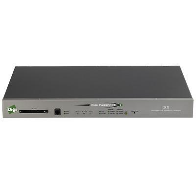 Digi 70002288 Passport 32 DC - Console server - 32 ports - RS-232 - DC power - 1U