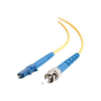 Cables To Go 37115 LC-ST 9/125 OS1 Simplex Singlemode PVC Fiber Optic Cable - Patch cable - LC single-mode (M) to ST single-mode (M) - 10 ft - fiber optic - 9 /