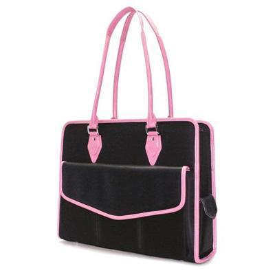 "Mobile Edge Komen Geneva - Notebook carrying case - 16"" - black  pink"