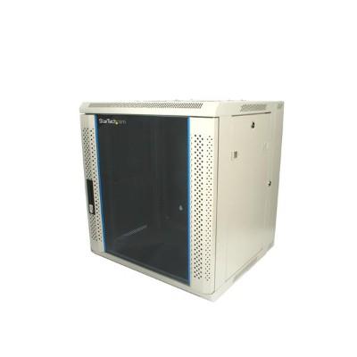 Startech Rk1219walh 12u 19in Hinged Wall Mount Server Rack Cabinet W/ Vented Glass Door - Wall Mount Cabinet - 12u