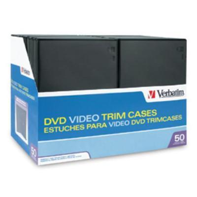 Verbatim 95094 DVD Video Trimcases - Storage DVD jewel case - capacity: 1 DVD - black (pack of 50) - for P/N: 43754  97281  97283  97284  97334  97335  97338  9