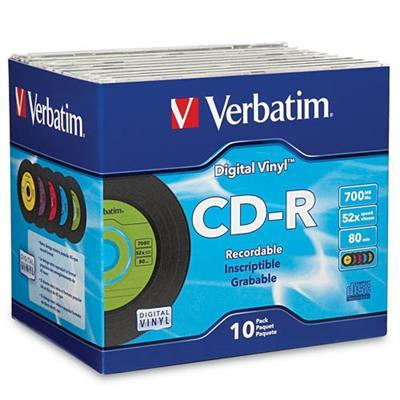 Verbatim 94439 Digital Vinyl - 10 x CD-R - 700 MB (80min) - jewel case
