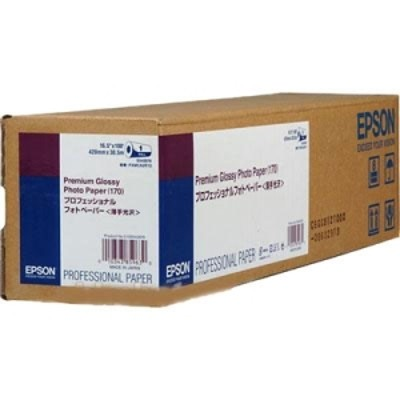 Epson S042076 Premium Glossy Photo Paper (170) - High-glossy - resin coated - 7 mil - Roll (16.5 in x 100 ft) - 165 g/m² - 1 roll(s) photo paper - for Stylus Pr