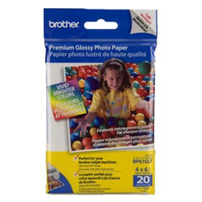 Brother BP61GLP High Gloss Inkjet Paper (20 sheets) 4 x 6