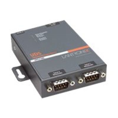 Lantronix UD2100001-01 Device Server UDS2100 Two Port Serial (RS232/ RS422/ RS485) to IP Ethernet - Device server - 2 ports - 10Mb LAN  100Mb LAN  RS-232  RS-42