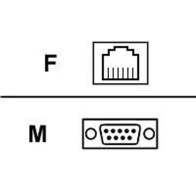 Black Box FA068 Serial adapter - DB-9 (M) to RJ-11 (F)