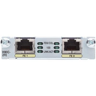 Cisco HWIC-2FE= High-Speed - Expansion module - HWIC - 10/100 Ethernet x 2 - for  1921 4-pair  1921 ADSL2+  19XX  29XX  38XX  38XX V3PN  39XX