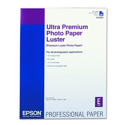 Epson S042084 17 x 22 Ultra Premium Photo Paper Luster - 25 Sheets