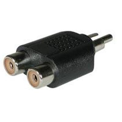 Cables To Go 40650 Audio splitter - RCA (M) to RCA (F) - black