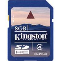Kingston Digital 8GB SDHC Class 4 Flash Card