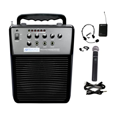 AmpliVox Sound Systems SW212 Mity-Vox Wireless Rechargeable PA