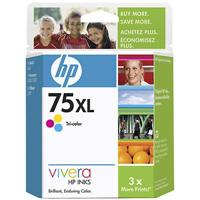 HP 75XL Tri-color Inkjet Print Cartridge - Works with D4360, C4480, C4580 & C5580