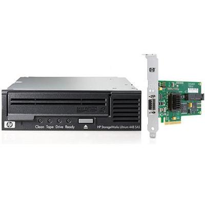 StorageWorks Ultrium 448 SAS Internal Tape Drive Bundled with HP Modular Smart Array SC44Ge 1-ports Int/1-ports Ext PCIe x8 SAS Host Bus Adapter