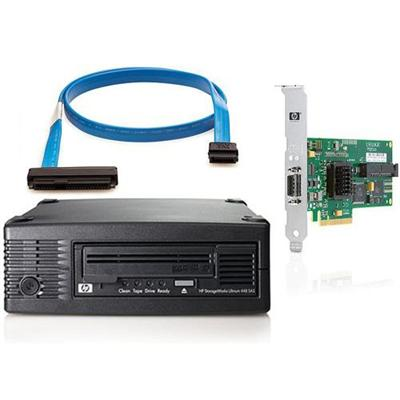 StorageWorks Ultrium 448 SAS External Tape Drive bundled with HP SC44Ge Host Bus Adapter and HP SAS External-Min 1x-2M Cable Assembly Kit