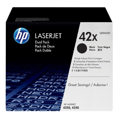 LaserJet Q5942X Dual Pack Black Print Cartridges