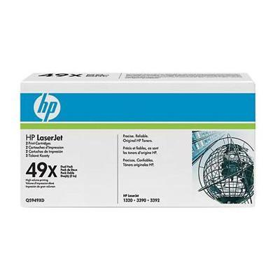 LaserJet Q5949X Dual Pack Black Print Cartridges
