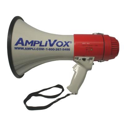 AmpliVox Sound Systems S602R Mity-Meg 25 Watt Dynamic Megaphone Rechargeable