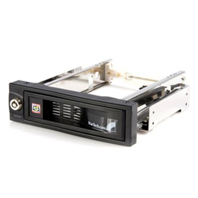 StarTech.com HSB100SATBK 5.25in Trayless Hot Swap Mobile Rack for 3.5in Hard Drive - Internal SATA Backplane Enclosure