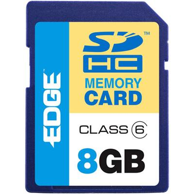 Edge Memory PE209797 8GB ProShot Secure Digital High Capacity Flash Memory Card - Class 6