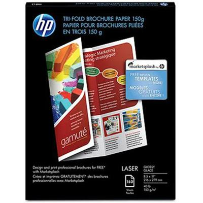 HP Inc. Q6612A Laser Glossy Tri-fold Brochure Paper - 8.5 x 11 in (150 sheets)