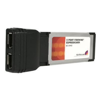 StarTech.com EC13942 2 Port ExpressCard Laptop 1394a Firewire Adapter Card - FireWire adapter - ExpressCard - FireWire x 2