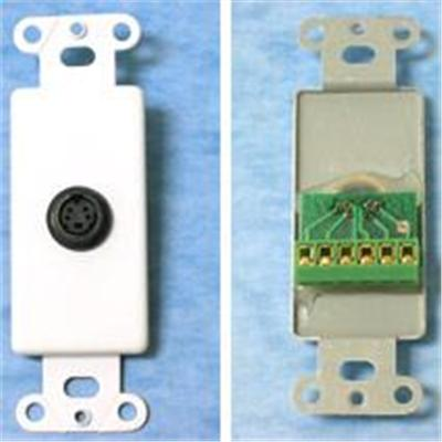 Cables To Go 37056 S-Video Screw Terminal Decorative Style Wall Plate - White - Modular insert - 4 pin mini-DIN - white - 1 port