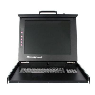 StarTech.com RACKCONS1708 1U 17in Folding Rackmount LCD Console with 8-Port Multi Platform KVM