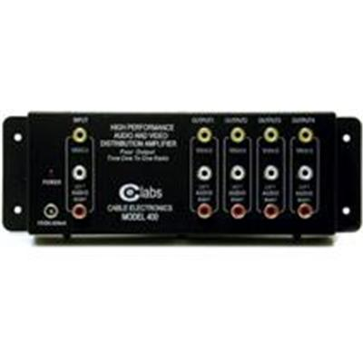 Cables To Go 41066 CE Labs 4-Output RCA Audio/Video Distribution Amplifier - Video/audio splitter - desktop