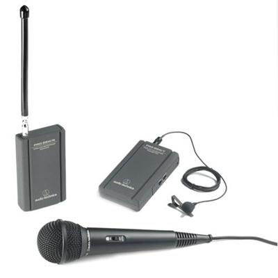 Audio - Technica ATR288W VHF TwinMic System with Battery-powered Receiver and Transmitter