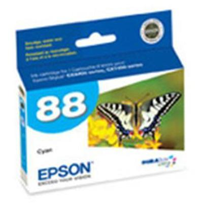 Epson T088220 88 - Cyan - original - ink cartridge - for Stylus CX7450  N11  NX100  NX105  NX110  NX115  NX200  NX215  NX300  NX305  NX400  NX415