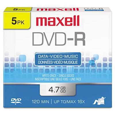 Maxell 638002 5 x DVD-R - 4.7 GB 16x - jewel case