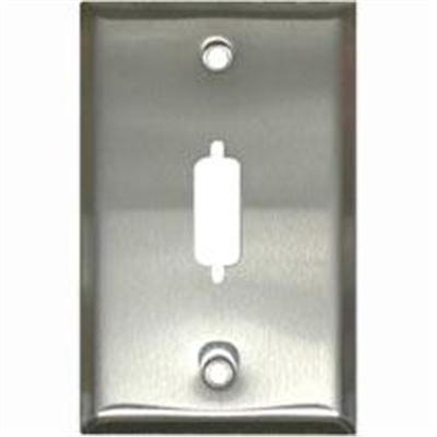 Cables To Go 37101 Mounting plate - stainless steel - 1 port