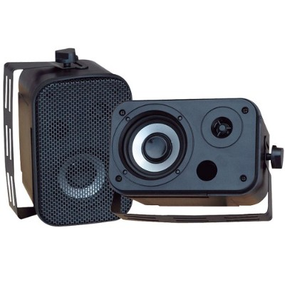 Pyle PDWR30B 3.5'' Indoor/Outdoor Waterproof Speakers - Black  Pair