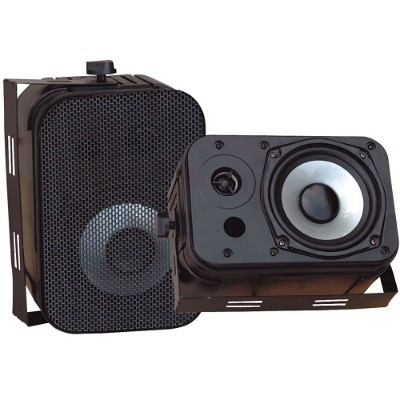 Pyle PDWR40B 5.25 Indoor/Outdoor Waterproof Speakers - Black Pair