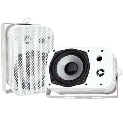 Pyle PDWR40W 5.25 Indoor/Outdoor Waterproof Speakers - White Pair