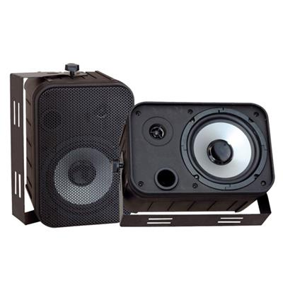 Pyle PDWR50B 6.5'' Indoor/Outdoor Waterproof Speakers - Black  Pair