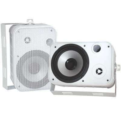 Pyle PDWR50W 6.5 Indoor/Outdoor Waterproof Speakers - White  Pair