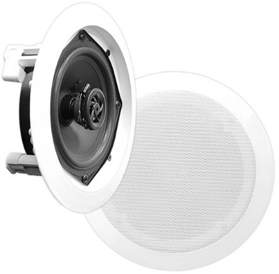 Pyle PDIC81RD In-Wall / In-Ceiling Dual 8-inch Speaker System 2-Way Flush Mount - White Pair