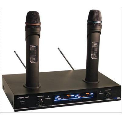Dual VHF Rechargeable Wireless Microphone System