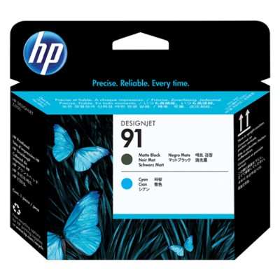 HP Inc. C9460A 91 Matte Black and Cyan Printhead