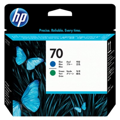 HP Inc. C9408A 70 Blue and Green Printhead