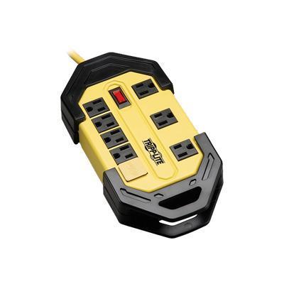 TrippLite TLM812GF Safety Power Strip w/ 8 out GFCI Plug OSHA Yellow 12' Cord - Power strip - 15 A - AC 120 V - input: NEMA 5-15 - output connectors: 8 (NEMA 5-