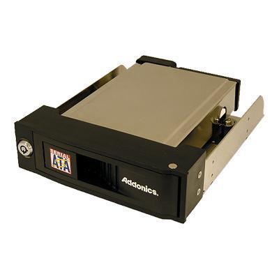 Addonics AESNAPMRSA Snap-In SATA Mobile Rack AESNAPMRSA - Storage mobile rack with cooling fan - 3.5 - black
